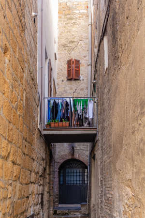 the town of Orvieto, in Umbria, Italy Imagens