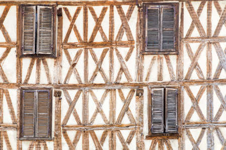 facade of an old house in Auxerre, Burgundy