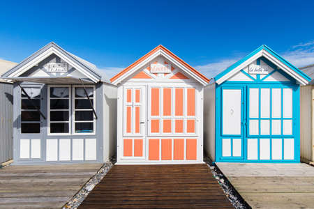 the cabins of Cayeux sur mer, in Picardy