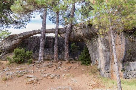 La Ciudad Encantada or Enchanted City, natural site of rock formations in the province of Cuenca, in Castile-La Mancha