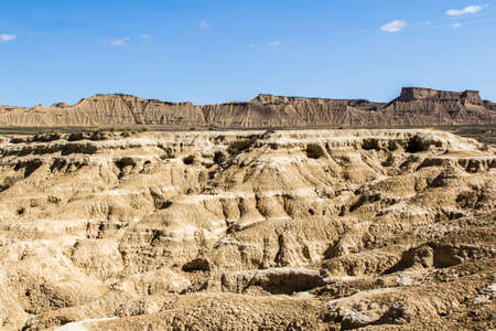 The desert of Bardenas Reales, a vast arid area located in the south-east of Navarre, in Spain