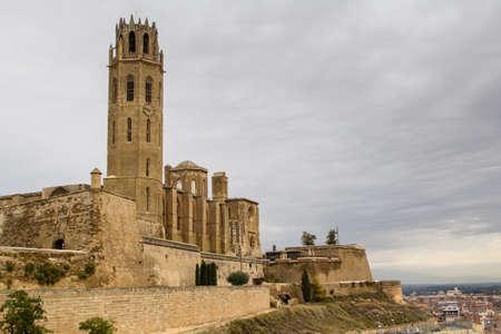 the city of Lleida (or Lerida), in Catalonia Stock Photo