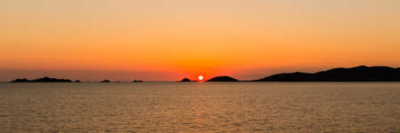 sunset over the Sanguinaires Islands, Corsica