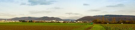 View over the countryside at the south district of Heidelberg, Germany,