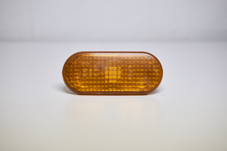 Orange car lights in a photostudio Stock Photo