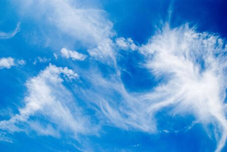floccus: White clouds in deep blue sky
