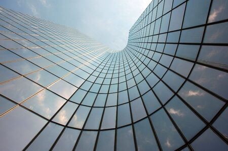 panoramics: Reflections in a Skyscraper Stock Photo