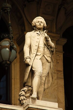 amadeus: Mozart Statue at the Old Opera in Frankfurt Main, Germany