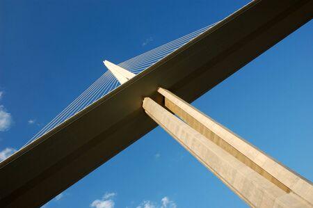 tarn: Pylon of the Millau Viaduct in France