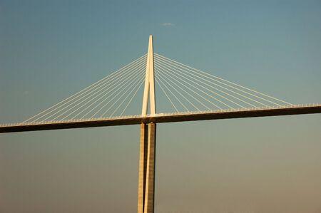 millau: Pylon of the Millau Viaduct in France