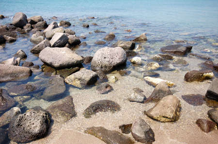 Stones at the Mediterranean Coast photo