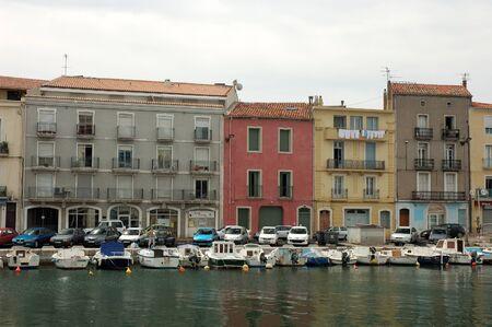 waterside: Waterside buildings in the city of S�te, France