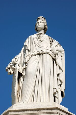 justness: Statue of the Justice in Nimes, France