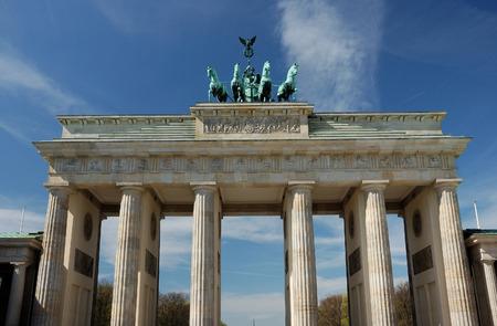 east berlin: brandenburg gate in berlin, germany, on a sunny day Stock Photo