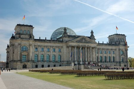 German Parliament Building, the Reichstag, in Berlin photo