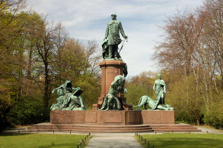 chancellor: Statue of the 1st German Chancellor Bismarck in Berlin