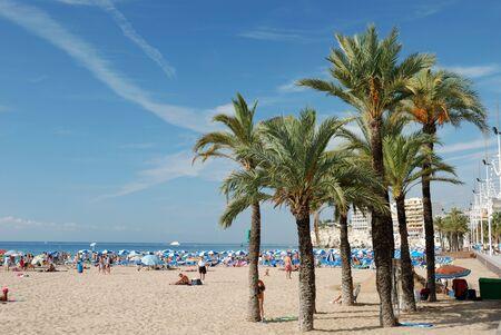 Mediterranean beach in Benidorm, Spain Stock Photo - 2207570