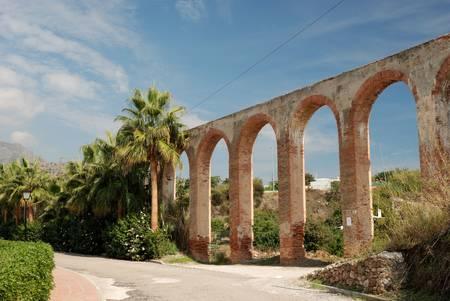nerja: Aqueduct in Nerja, Spain Stock Photo