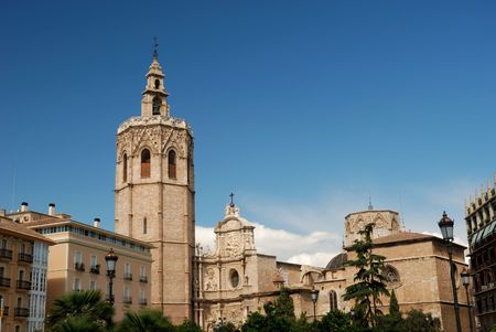 valencia: Famous Cathedral in Valencia, Spain Stock Photo