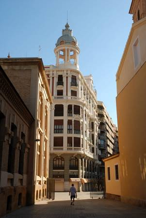 streetscene: Streetscene in the spanish town Murcia Stock Photo