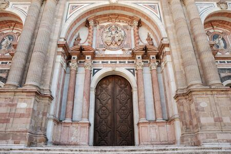 Entrance to the Cathedral in Malaga, Spain Stock Photo - 2206498