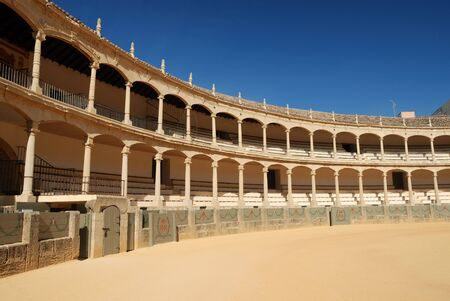 fight arena: Bullfighting arena in Ronda, Spain