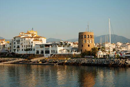View of Puerto Banus harbour, in Marbella, Spain