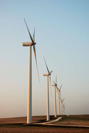 reuseable: Wind turbines for alternative energy Stock Photo