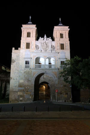 toledo town: Gate into the old town of Toledo, Spain