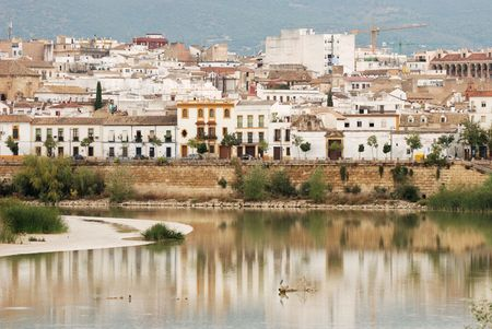 caliphate: Old town of Corodova with the Guadalquivir river in foreground Stock Photo