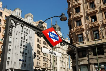 Metro station Callao in Madrid, Spain