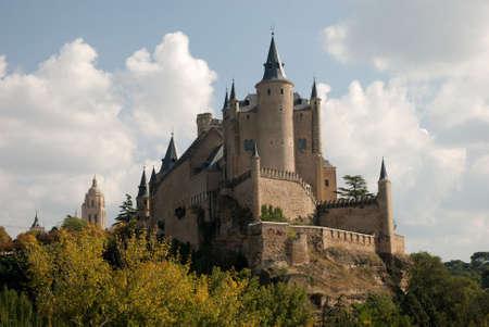 segovia: The famous Alcazar (Castle) of Segovia, Spain Stock Photo