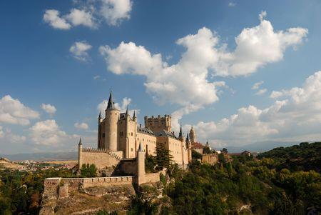segovia: The famous Alcazar (castle) of Segovia, Spain