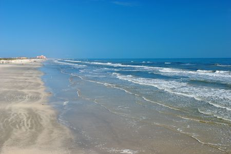 south texas: Beach in Padre Island, south Texas Stock Photo