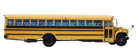 transport scolaire: Les autobus scolaires isol�s sur fond blanc