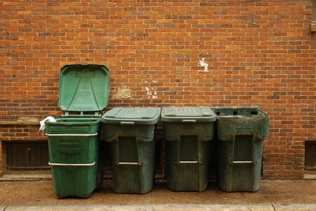 tons: Garbage tons in an american city Stock Photo