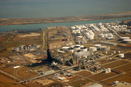 Aerial view of Refinery in Corpus Christi, Texas Stock Photo - 2505846