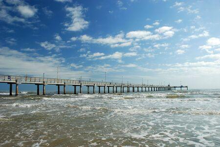 körfez: Pier in Corpus Christi, Texas Stok Fotoğraf