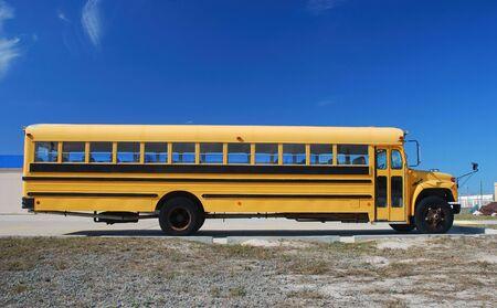 grade school age: Yellow school bus