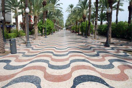 Promenade in Alicante, Spain Stock Photo