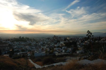 View over the old Granada before sunset photo