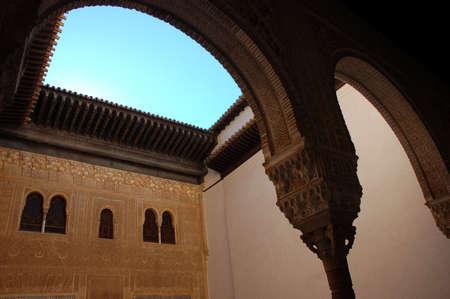 Inside the Alhambra Palace, Granada, Spain