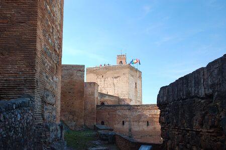 alcazaba: Alcazaba Castle in Alhambra Palace, Granada, Spain Editorial