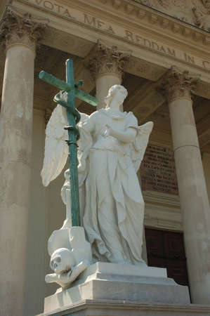 st charles: Statue at the St. Charles Cathedral in Vienna, Austria
