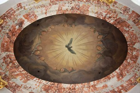 st charles: Affreschi nella Cattedrale di San Carlo a Vienna, Austria
