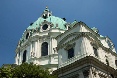 st charles: Cattedrale di St Charles (Karlskirche) a Vienna, Austria