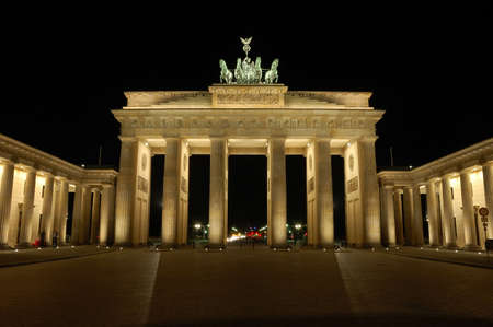 Brandenburger Gate in Berlin, Germany at Night Stock Photo - 2739321