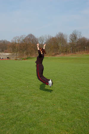 lesure: Girl Jumping