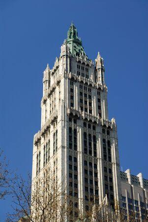 artdeco: Edificio Woolworth en estilo Art Deco en la ciudad de Nueva York Foto de archivo