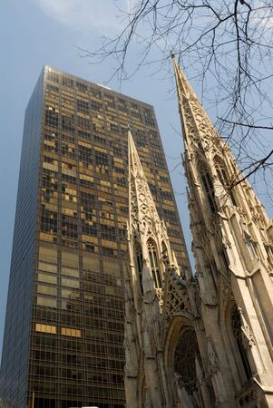 citylife: Saint Patrick Cathedral in Fifth Avenue, New York City